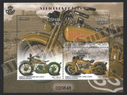 Spain - Espagne 2014 Yvert 4611-13, Vintage Vehicles, Harley Davidson - Motorcycles - MIniature Sheet - MNH - 1931-Hoy: 2ª República - ... Juan Carlos I