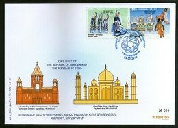 Armenia 2018 India Joints Issue Manipuri & Hov Arek Dance Costume 2v FDC # 7720 - Joint Issues