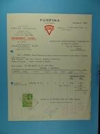 """Purfina Département """"Huiles"""" Bruxelles /66/ - Électricité & Gaz"""