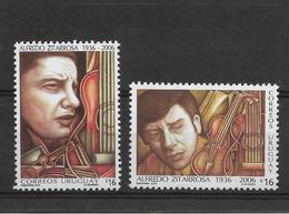 URUGUAY 2005, ALFREDO ZITARROSA MUSICIAN MUSIC COMPOSER GUITAR 2 VALUES MINT MNH - Uruguay
