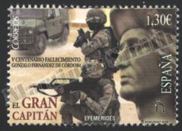 Spain - Espagne 2016 Yvert 4741, Famous People. 500th Anniversary Of The Death Of Gonzalo Fernández De Córdoba - MNH - 1931-Hoy: 2ª República - ... Juan Carlos I