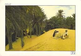 Afrique- TUNISIE  DOUZ  Sur La Dune Le Soir *PRIX FIXE - Tunisia