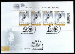 Hungary 2019 Mahatma Gandhi Of India 150th Birth Anniversary Sheetlet FDC # 9171 - Mahatma Gandhi