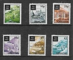 Gibraltar, 1996, Postage Due Set Of 6 , 1/2d To £2, MNH ** - Gibraltar