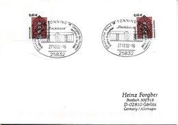 """BRD FDC Freimarken Sehenswürdigkeiten 0,45€ """"Tönninger Packhaus"""", Mi.2299+2303 BD Selbstklebend ESSt 27.12.2002 TÖNNING - [7] République Fédérale"""