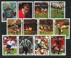 Lesotho 1997 Football World Cup, France Set Used (SG 1312-1323) - Lesotho (1966-...)