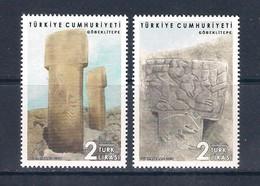 Turchia Turkey [2019] Archeologia/Archaeology: Göbeklitepe - Set Of 2 Stamps (MNH) - Archaeology