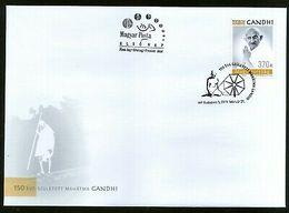 Hungary 2019 Mahatma Gandhi Of India 150th Birth Anniversary 1v FDC # 9668 - Mahatma Gandhi