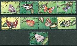 Lesotho 1997 Butterflies Set Used (SG 1325-1333) - Lesotho (1966-...)