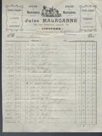 """Ancienne Facture Atelier De Maréchalerie Jules Malaganne Libourne Gironde  Ferrure Française Et Anglaise  1919 """"cheval"""" - Rechnungen"""