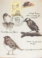 Carte Du 10 Novembre 1990 Maurice Genevoix  Année Du Centenaire à Chateauneuf Sur Loire - Marcophilie (Lettres)