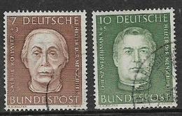 Germany, 1954, Kollwitz 7+3pf, Werthmann 10+5 Pf, , Used - [7] Federal Republic