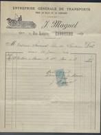 """Ancienne Facture Entreprise Générale De Transports Pour La Ville Et La Campagne J Magnol Libourne  """"chevaux"""" 1920 - Voitures"""