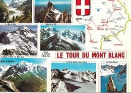 CARTE POSTALE CHAMONIX LE TOUR DU MONT BLANC (74) - Chamonix-Mont-Blanc