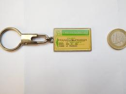 Beau Porte Clés , Banque , Crédit Agricole , Fond Argent - Porte-clefs