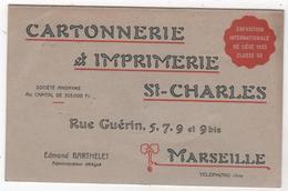 Calendrier 1905 1906 Cartonnerie Imprimerie Saint Charles Rue Guérin Marseille Edmond Barthelet - Calendars