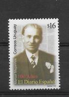 URUGUAY 2006, SPANISH NEWSPAPER PRESS JOURNALISM 1 VALUE  MNH - Uruguay