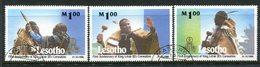 Lesotho 1998 First Anniversary Of Coronation Of King Letsie III Set Used (SG 1516-1518) - Lesotho (1966-...)