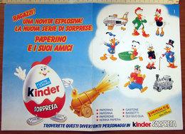 KINDER DISNEY BROCHURE PUBBLICITA' 1988  VINTAGE COLORA IL FANTASTICO MONDO DISNEY - Kinder & Diddl