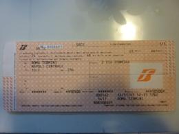 Biglietto Ferrovie Dello Stato IC Roma Napoli 1997 - Europa