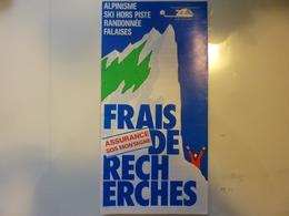 """Pieghevole  Illustrato """" EURO ASSURANCE SOS MONTAGNE"""" Francia Anni '80 - Dépliants Turistici"""