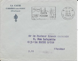 YVELINES 78  - POISSY    - FLAMME : WEEK END /POISSY / SA PLAGE PISCINE SA FORET - 1969  - EVELOPPE EN PORT PAYE - Poststempel (Briefe)