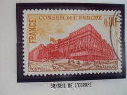 "70-79- Timbre Oblitéré N°  Service 53   "" Conseil Europe  0.80 F       ""    0.15 - Service"
