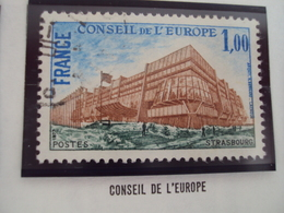 """70-79- Timbre Oblitéré N°  Service 54   """" Conseil Europe  1 F       """"    0.15 - Oblitérés"""