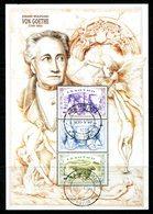 Lesotho 1999 250th Birth Anniversary Of Johann Von Goethe Sheetlet Used (SG 1629-1631) - Lesotho (1966-...)