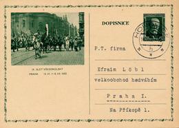 HOROVICE - 1932 , BPK  Praha - Ganzsache Nach Prag - Entiers Postaux