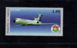 739912049  POSTFRIS MINT NEVER HINGED POSTFRISCH EINWANDFREI  SCOTT 176 TRANSPORTATION TU-154M AIRPLANE - Tadjikistan