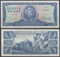 1983-BK-123 CUBA 1983 20$ XF LEVE DOBLEZ CAMILO CIENFUEGOS. - Kuba
