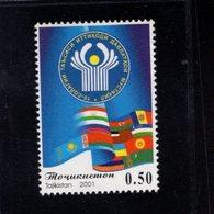 739912490  POSTFRIS MINT NEVER HINGED POSTFRISCH EINWANDFREI  SCOTT 178 COMMENWEALTH OF INDEPENDENT STATES 10TH ANNIV - Tadjikistan