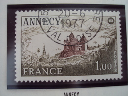 """70-79- Timbre Oblitéré N° 1935     """"  Annecy      """"     0.30 - France"""