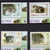 739913075  POSTFRIS MINT NEVER HINGED POSTFRISCH EINWANDFREI  SCOTT 92 93 94 95 WWF CATS - Tadjikistan