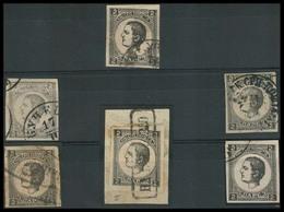 SERBIA. 1873. Yv 26. Dies I And II. 2p Black X6 One On Piece Stline + Cds. - Serbia