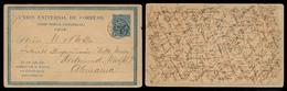 CHILE - Stationery. 1884 (15 Sept). Tamaya Postal Agency / Ovalle Dept  Germany. 4c Blue Early Stat Card. Proper Usage + - Chile