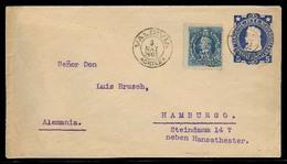 CHILE - Stationery. 1905. Vald - Germany. 5c Cobalt Stat Env + 5c Adtl. Fine Cds. - Chile