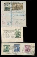 POLAND. 1942-4. British Legion. 3 Fragments Circulated Polish Legion Stamps. - Pologne