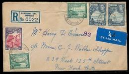 BC - Bermuda. 1938 (10 Sept). Mangrove Bay - USA. Reg Air Multifkd (x5) Env. Fine. - Unclassified
