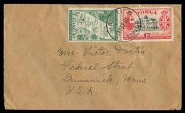 BC - Tonga. 1952 (23 April). Haapai - USA. Fkd Env 1 1/2d Rate. VF. - Non Classificati