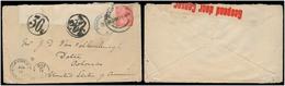 SOUTH AFRICA. 1947. Johanesburg - USA / Cº - Delta. Fkd + Doble Taxed 30c + 60c Modified S Africa Pmks + Censors. Unusua - Afrique Du Sud (1961-...)