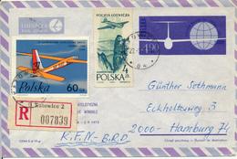 KATOWICE - 1975 , R-Luftpost-Ganzsache Nach Hamburg - Entiers Postaux