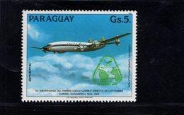 739915493 POSTFRIS MINT NEVER HINGED POSTFRISCH EINWANDFREI  SCOTT C571 AIRPLANE - Paraguay