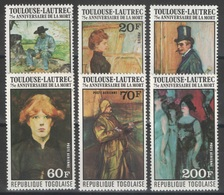 Togo - YT 876-878 + PA 293-295 ** - 1976 - Toulouse-Lautrec - Togo (1960-...)