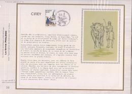 Carte CEF - 1950 - Ciney - Feuillet Pas Courant - Cartes-maximum (CM)