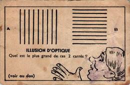 II) Image Illusion D'Optique Imprimeries Chambrelent S A ETIOP à Paris En L'Etat - Altri