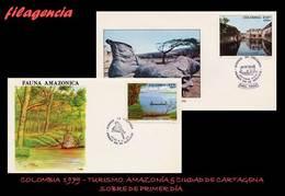 AMERICA. COLOMBIA SPD-FDC. 1979 TURISMO. AMAZONIA & CIUDAD DE CARTAGENA - Colombie