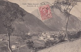 VALLE STURA-CUNEO-TERME DI VINADIO-PANORAMA-CARTOLINA VIAGGIATA IL 3-9-1912 - Cuneo
