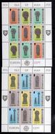 ISLE OF MAN  ISOLA 1981 EUROPA CEPT BLOCK SHEET SET SHEETS BLOCCO  FOGLIETTO SERIE FOGLIETTI MNH - Isola Di Man